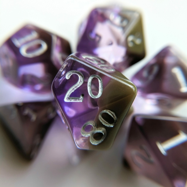 February Amethyst dice