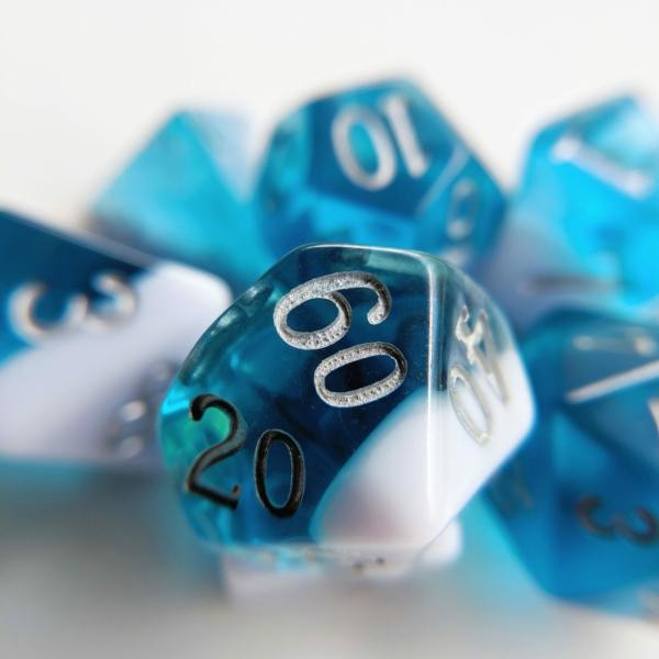 march aquamarine dice