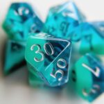 december turquoise dice