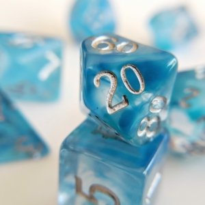 aquamarine dice