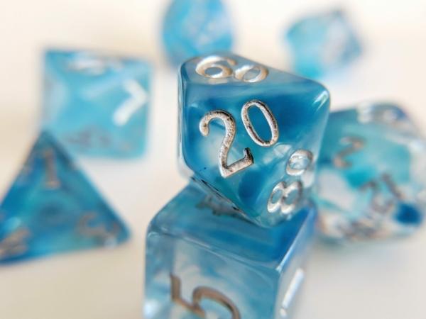 aquamarine dice