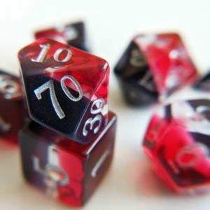 november red topaz dice
