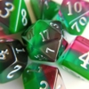 October tourmaline dice