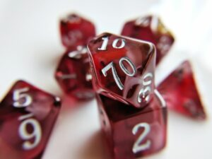red topaz dice