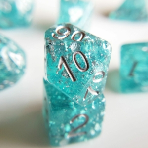 Wedding Dice Teal and Silver