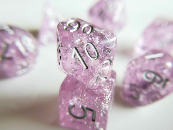 Wedding Dice Purple and Silver
