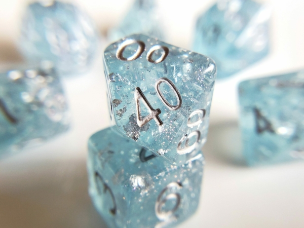 Wedding Dice blue and Silver
