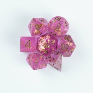 Fuchsia dice on White background