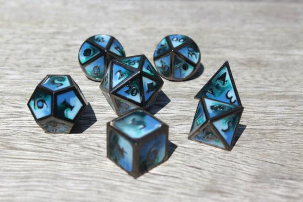metal deep ocean dice