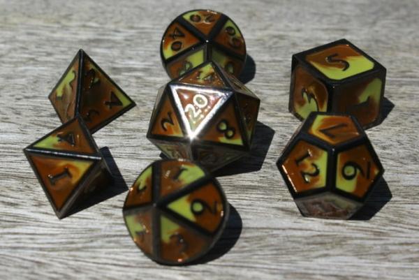 metal desert dice