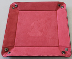 pink dice tray