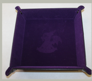 Purple dice tray