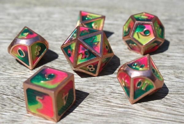 metal spring garden dice