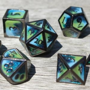 metal tropical ocean dice