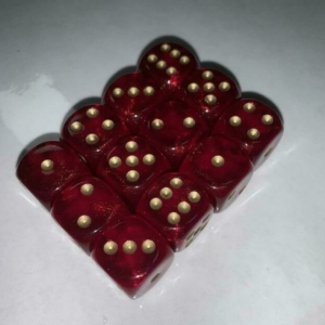 borealis red and gold dice