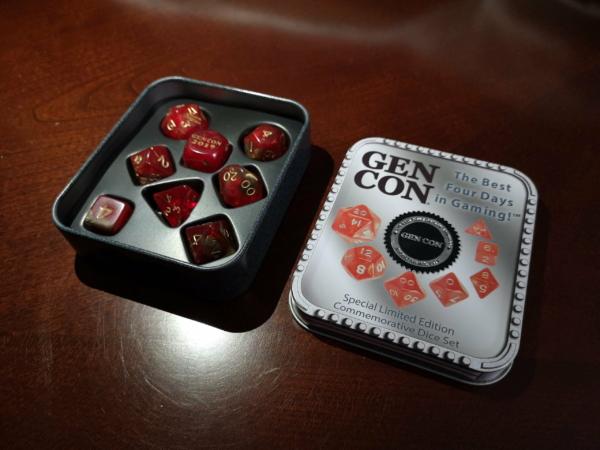 gen con special limited edition commemorative dice set