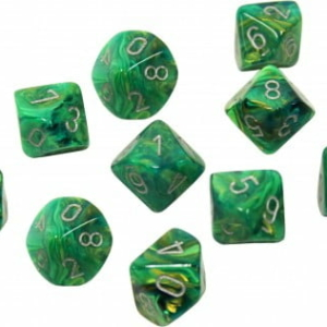 OOP Chessex Lustrous Green with Silver