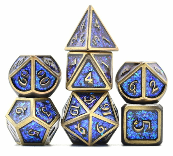 Color Shift Metal Blue and Bronze Dice
