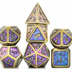 Color shifting Purple Metal Dice