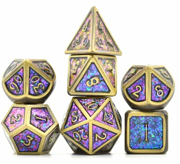 Color shifting Purple Metal Dice