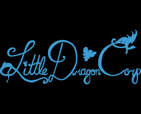 Little Dragon Corp Logo with black background