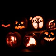 An image of pumpkins carved for Hallowe'en