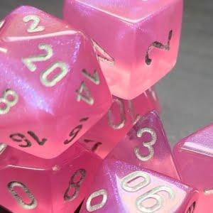 Borealis pink/silver bag of 20