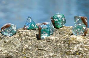 Zen Dragon Dice on a Rock