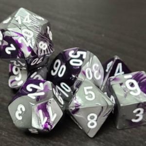Gemini Purple-Steel/White