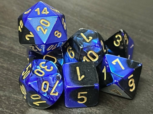 Gemini Black-Blue/Gold