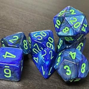 Lustrous Dark Blue w/Green
