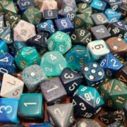 Curated Pound of Dice Blue