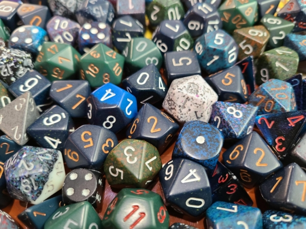 Chessex Curated Pound of Dice - Dark