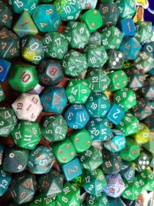 Curated Pound of Dice - Green