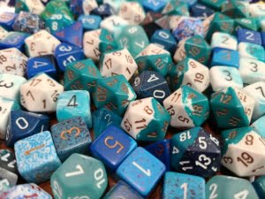 Curated Pound of Dice - Light Blue