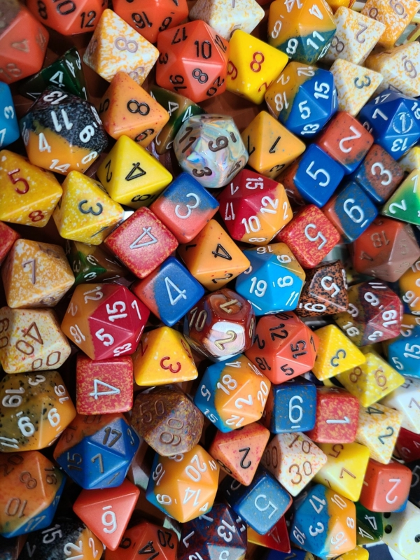 Curated Pound of Dice - Orange