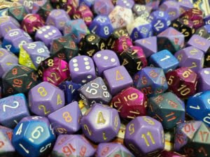 Curated Pound of Dice - Purple