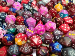 Curated Pound of Dice - Red