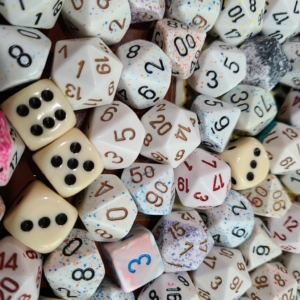 Curated Pound of Dice - White