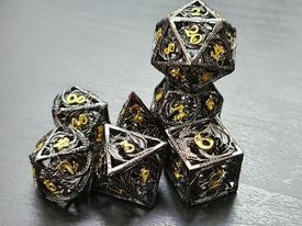 black with gold dragon