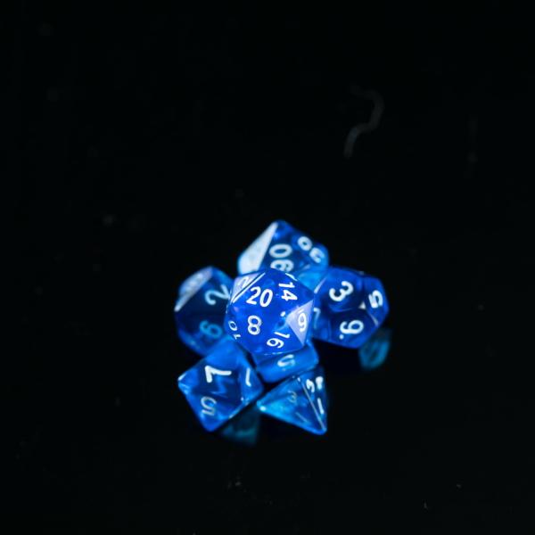 Mini Blue Transparent