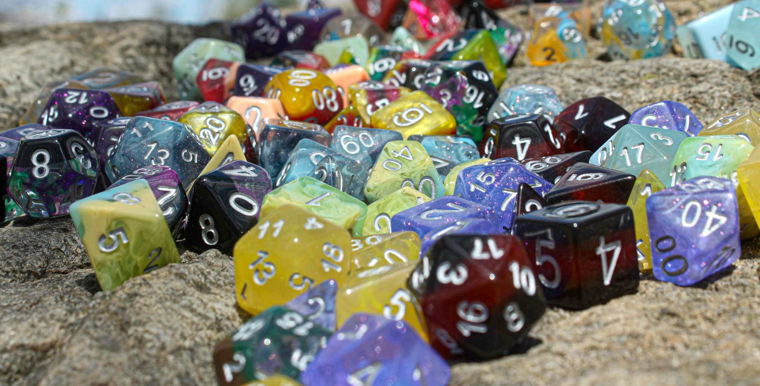 Scattered dice background